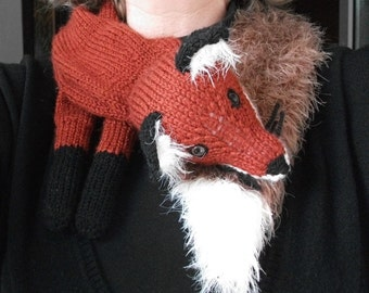 Knitting Pattern for a Fox Stole
