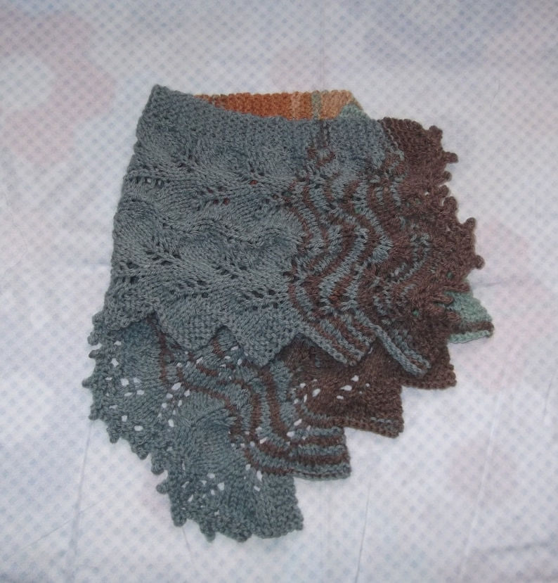 Hand Knitted Lace Scarflet