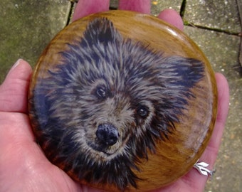 Hand Painted Wooden Ornament/PaperWeight
