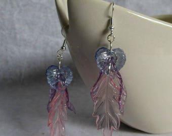 Feather Lite Leaf Earrings Pastel Colors