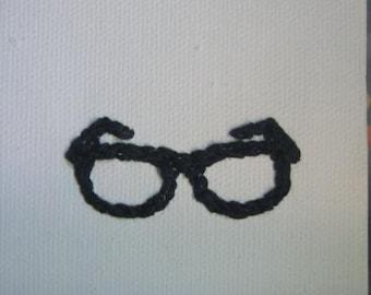 Eye Heart Stitchery - I Love Nerds Glasses Embroidered Art