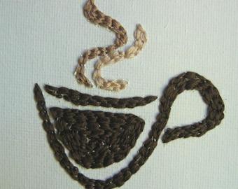 Eye Heart Stitchery - I Love Coffee