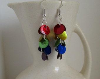Over the Rainbow Shell Dangle Earrings