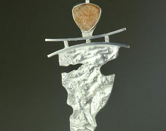 Druzy & Sterling Silver Pendant