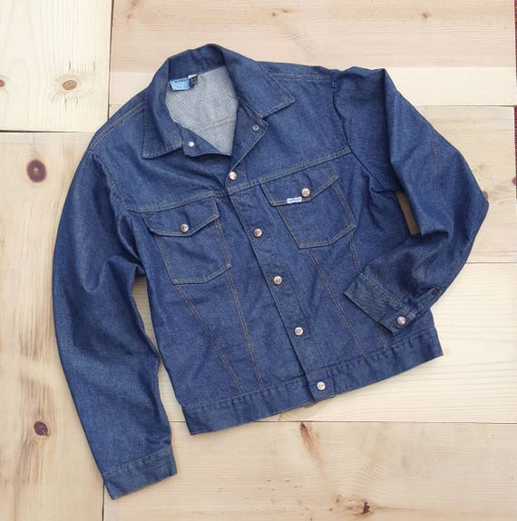 Vintage Denim Jacket  //  Vtg 50s 60s ROEBUCKS Dis