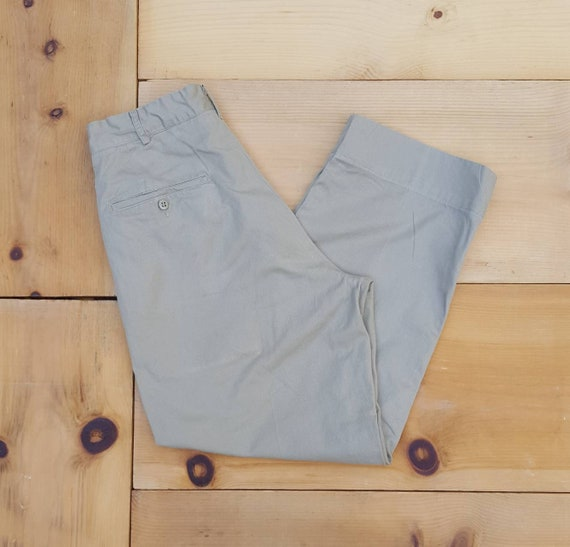Vintage 50s  Distressed Khaki Cotton Chino Militar