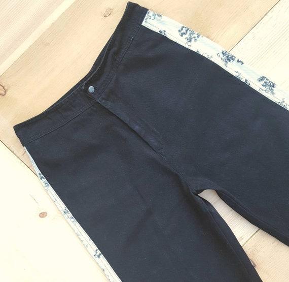 Vintage RONCELLI Pants //  Vtg 1970s Black + Whit… - image 3