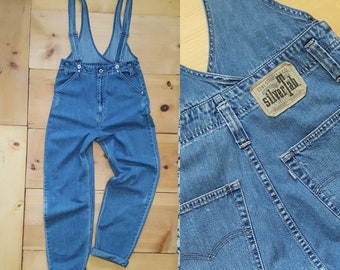 Vintage Levi's Silver Tab Relaxed Fit Suspenders Jeans // unisex s/m