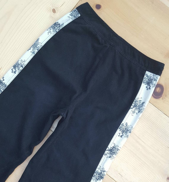 Vintage RONCELLI Pants //  Vtg 1970s Black + Whit… - image 5