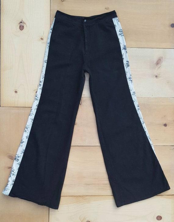 Vintage RONCELLI Pants //  Vtg 1970s Black + Whit… - image 2