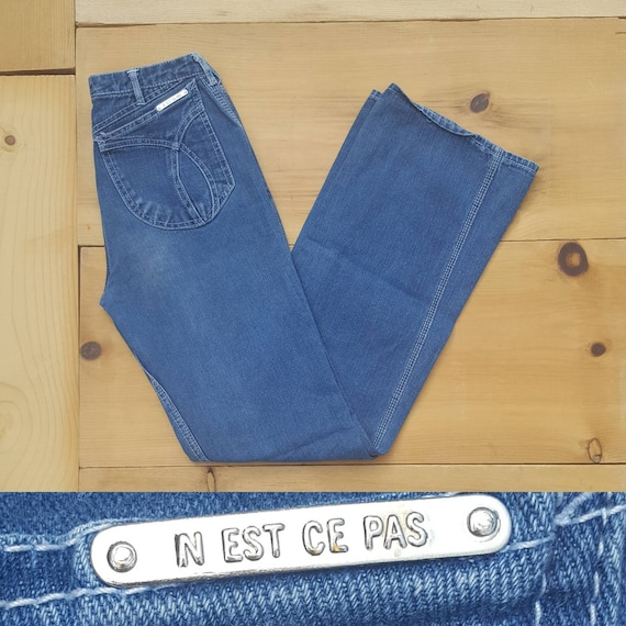 Vintage Jeans  //  Vtg 70s 80s N'EST CE PAS? Mid … - image 8