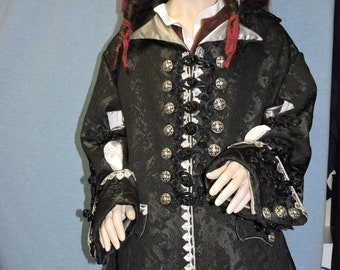 Custom Made Barbossa Pirate Coat Custom made in and fabric of your choice!