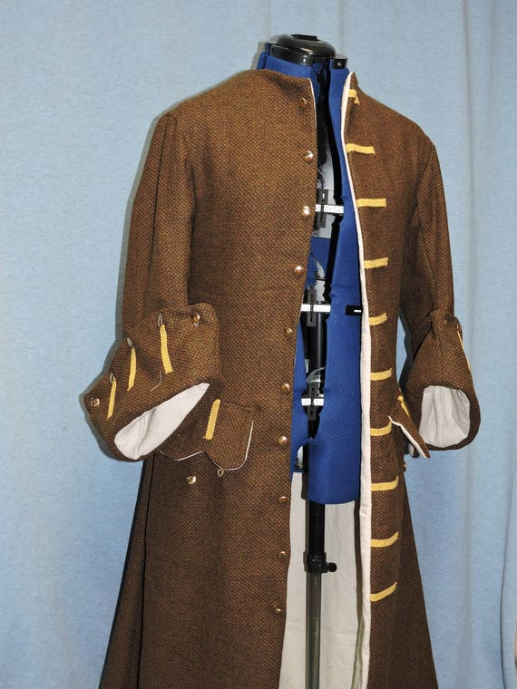 Custom Made Pirate frock coat, POTC, Jack Sparrow Custom Made wool broad cloth with functional buttonsany size, any color.
