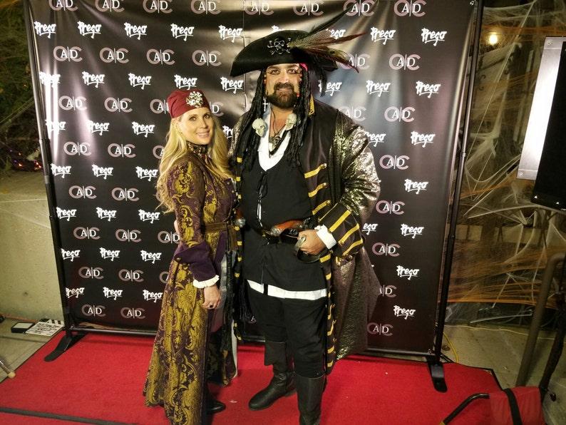 47abf76010e Custom Made Jack Sparrow Renaissance 2pc Brocade Masquerade