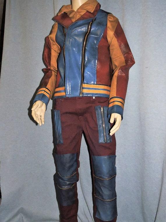 Custom made Disney Descendants 2 ADULT FAUX LEATHER Jay costume jacket and  pants