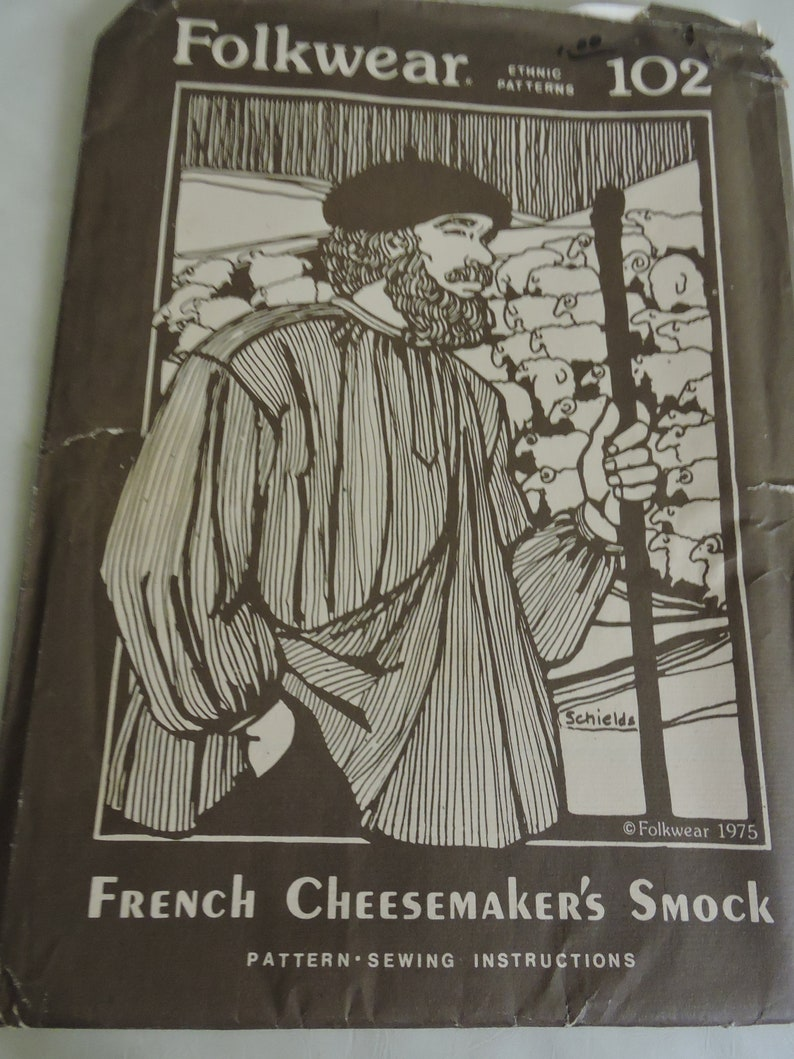 Folkwear French Cheese-maker/'s Smock #102 Renaissance Shirt pattern folkwear102