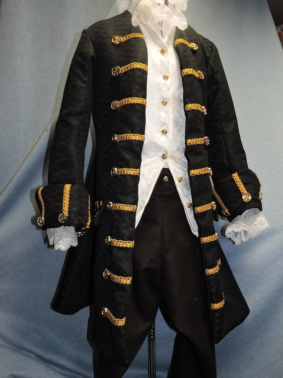 Pirate frock coat, POTC, Jack Sparrow, several styles, Custom Made any size, any color.