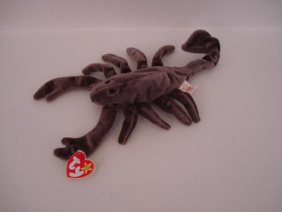 ef477001345 TY Beanie Babies Stinger the Scorpion DOB September 29 1997