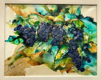 The Purple Grapes, Grandmas Arbor, Memories of Childhood, Illinois Vines, Coffee Art