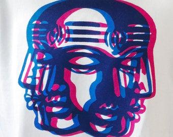 Anaglyph Dreamer screen print t-shirt