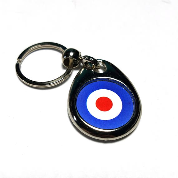 SCOOTER KEYRING NO.1 MOD TARGET FAUX LEATHER KEY RING//KEY FOB