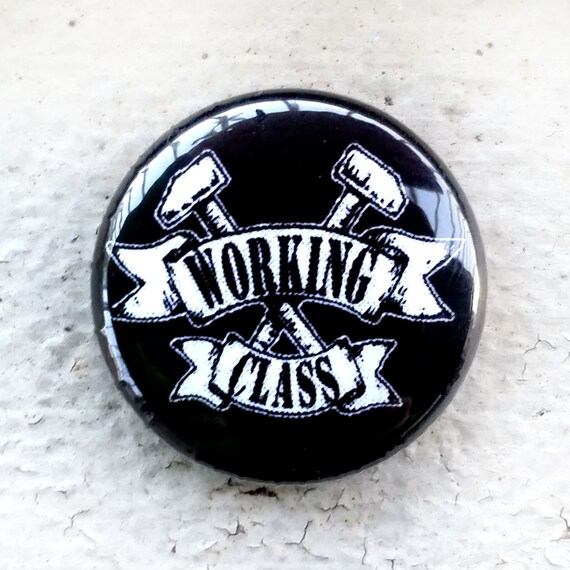 Working Class Crossed Hammers 1 Inch Button Etsy