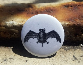 Bat Illustration 1 inch Button