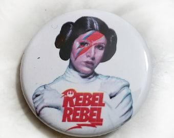 Rebel Rebel Prinzessin Leia 1,25 Zoll Button