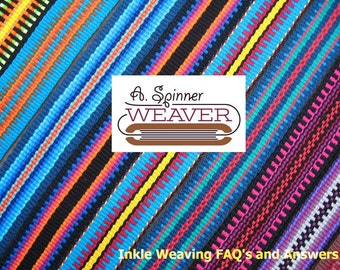 Inkle Weaving FAQ's and Answers, Downloadable PDF, Digital Document