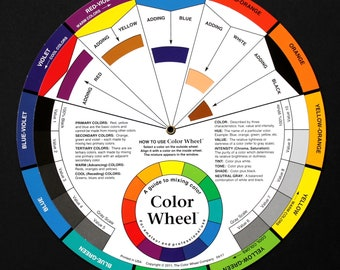 Color Wheel for Artists, Color Tool, Color Theory, Color Mixing Guide, for Quilters, Weavers, Designers, Painters, Beaders, Crafters