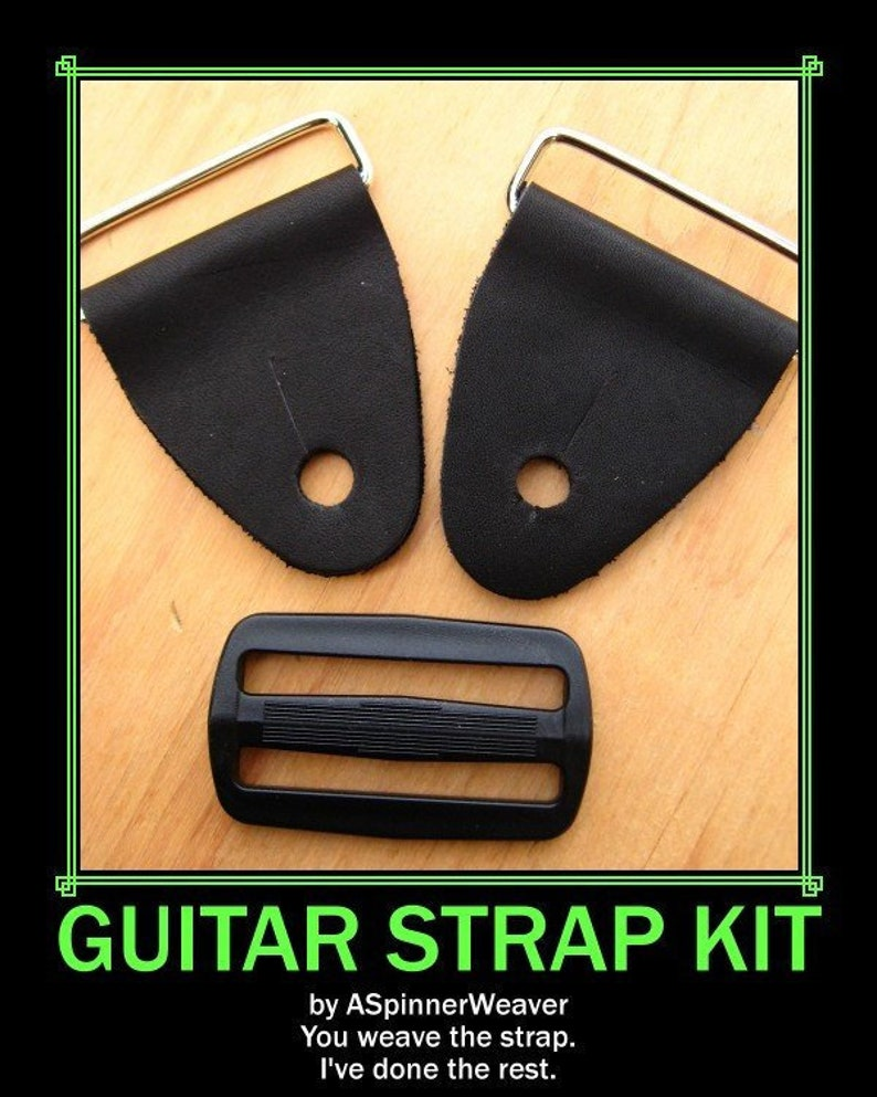 Guitar Strap Kits Guitar Strap Replacement Ends Leather Tabs image 0