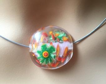 Handmade Lampwork Glass Beads Loose, Two beads