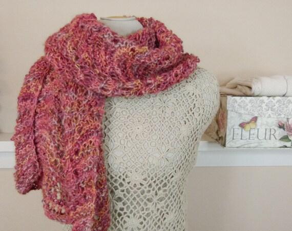 c0d4f7d6e37 Luxury Alpaca Merino Handknit Shawl Romantic Shawl in