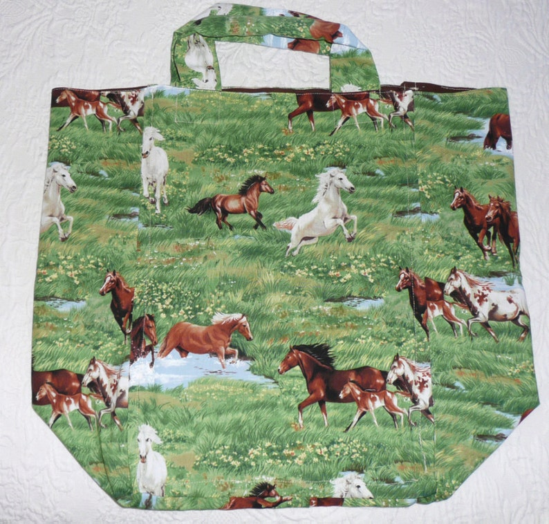 Market Bag with wild horses