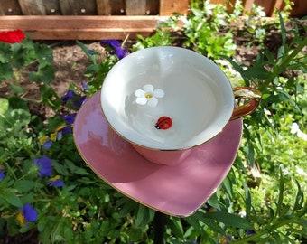 Tea Cup - Heart shaped Bird feeder