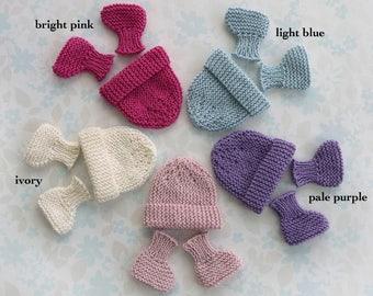 MICRO PREEMIE hat and booties set - 24 to 30 weeks 4c0afef1cd19