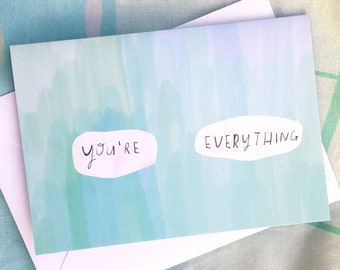 You're everything card cc265