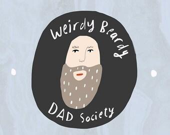 SALE: Beardy Dad card cc171