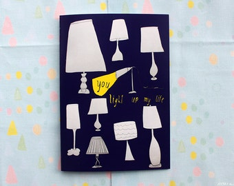 You light up my life card cc90  SALE +++++