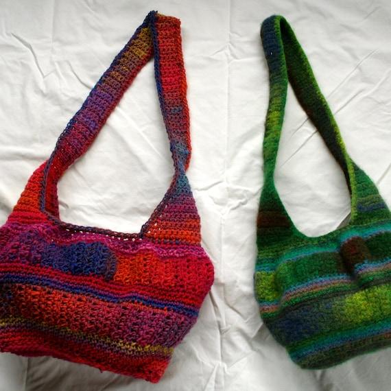 Crochet Pattern Noro Kureyon Felted Hobo Bag Etsy