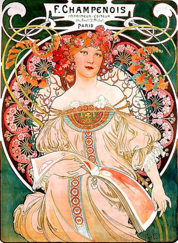 Peintures Art Nouveau Photo Cd 113 Images Etsy