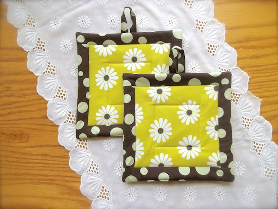 Superieur Daisy Kitchen Decor Modern Kitchen Decor Daisy Pot Holders | Etsy