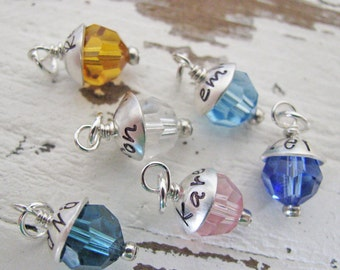 personalized birthstone charm