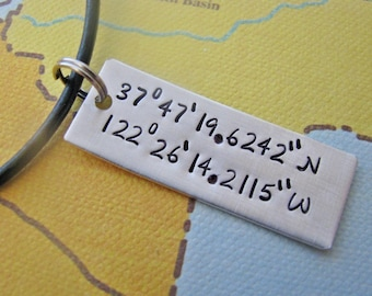 custom latitude longitude necklace