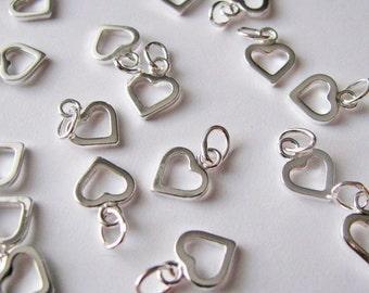small open heart charm