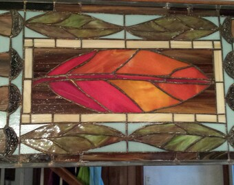 Fall Panel with textured acorns and fall colors