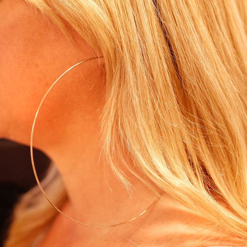 Gold Hoop Earrings Sensitive Ears Hypoallergenic Earrings XL Gold Hoop Earrings Nickel Free Earrings Gold Tiny Hoop Earrings