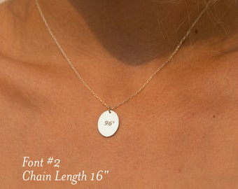 925 Sterling Silver Initial Pendant Necklace, 925 Sterling Silver Oval Pendant Necklace Personalized,  Oval Name Necklace