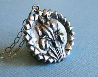 Sterling Silver Iris Pendant // Eloquence // Message of Hope and Faith