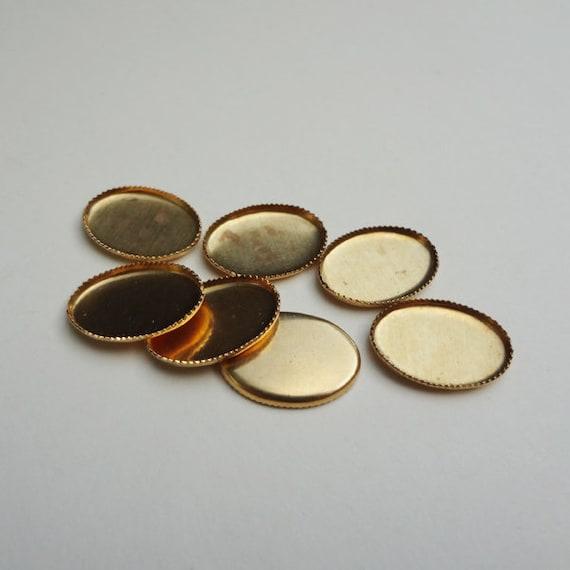 24 Brass 10mm Round Settings